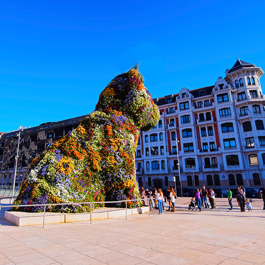 Flower sculpture in Bilbao