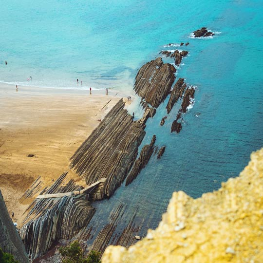Flysch-Route in Zumaia (Baskenland)