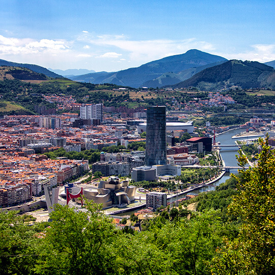 View of Bilbao from Mount Artxanda