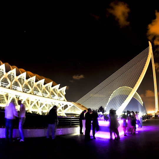 City of Arts and Sciences in Valencia by night