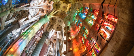 Interior of the Sagrada Familia church