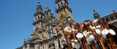 Pilgrim shells in the cathedral of Santiago de Compostela