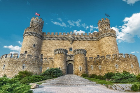Medieval castle in Manzanares El Real Castle, Madrid