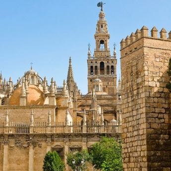 Seville Cathedral with La Giralda in the background