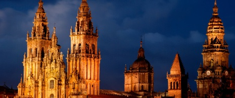 Santiago Cathedral by night