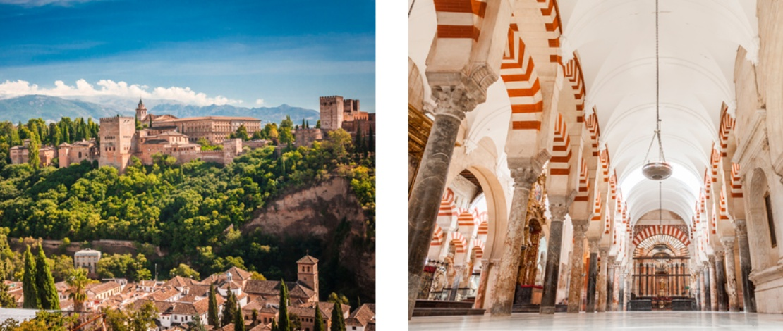 Follow the trace of Al-Andalus Legacy in these routes through Spain