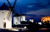Windmills in Consuegra at sunset