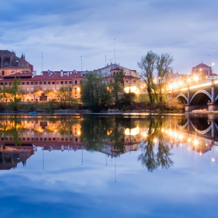 Salamanca on the other side of the river Tormes