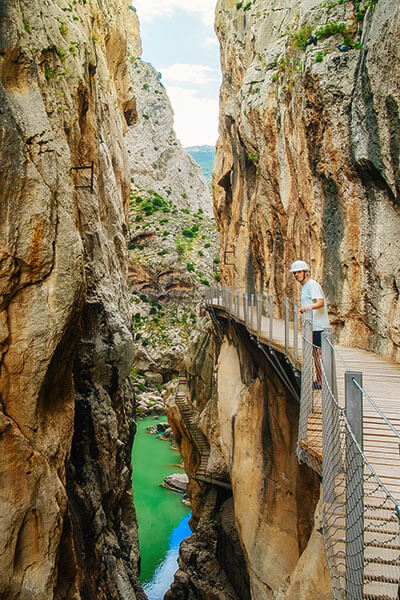 Dare the sheer cliffs of El Caminito del Rey