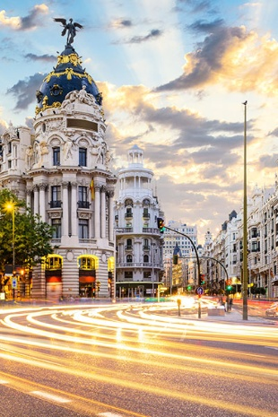 Gran Vía in Madrid