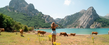 Girl at the Lakes of Covadonga