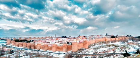 Avila in the snow