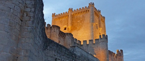 Tower of Peñafiel Castle. Valladolid