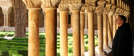 Cloister in the Monastery of Santo Domingo de Silos (Burgos, Castilla y Leon).