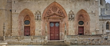 Detail of the entrance to Burgos Cathedral