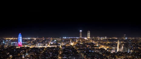 Views of Barcelona with the Torre Agbar