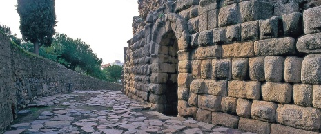 Roman road in Mérida