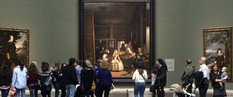 Velázquez room with Las Meninas (The Ladies-In-Waiting) at the back