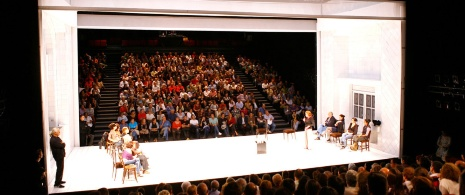 Performance of The House of Bernarda Alba in Las Naves del Español, Matadero, Madrid.
