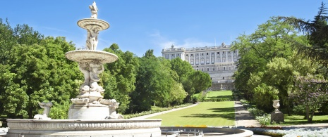 The Royal Palace in Madrid from the Moro Gardens