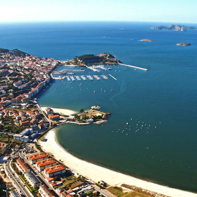 Aerial view of Baiona