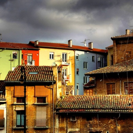 Rooftops of houses, Pamplona