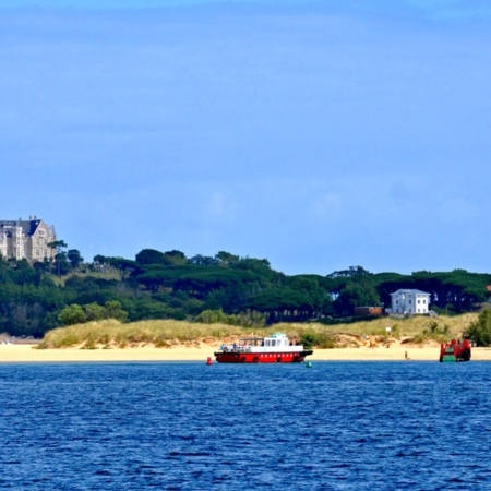 Views of Santander and the Magdalena Palace from El Puntal beach