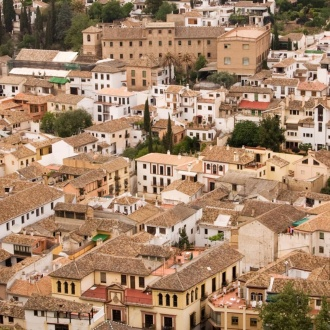 View of the Albaicín quarter in Granada