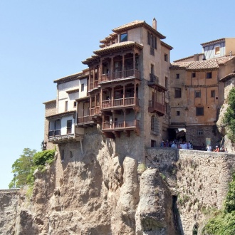 View of the Hanging Houses, Cuenca