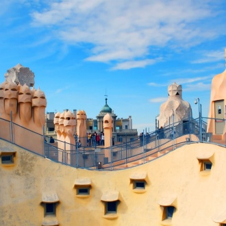 Roof terrace of Casa Milà, Barcelona