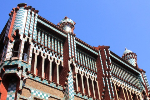 Façade of the Casa Vicens house