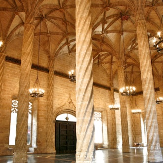 Inside the Silk Exchange, Valencia