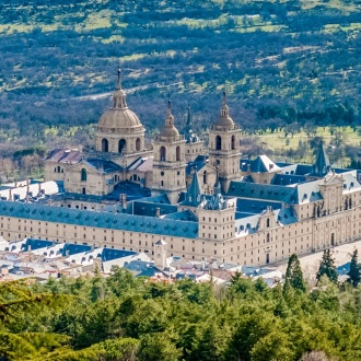 View of the Royal Monastery of San Lorenzo de El Escorial