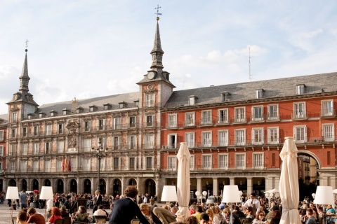Terrasses sur la Plaza Mayor de Madrid