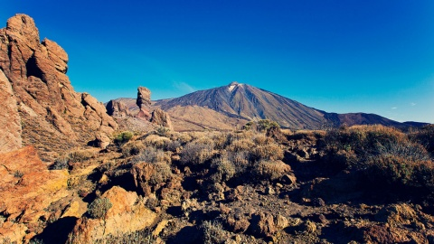 The Teide Mountain and Roque de los Muchachos Observatory