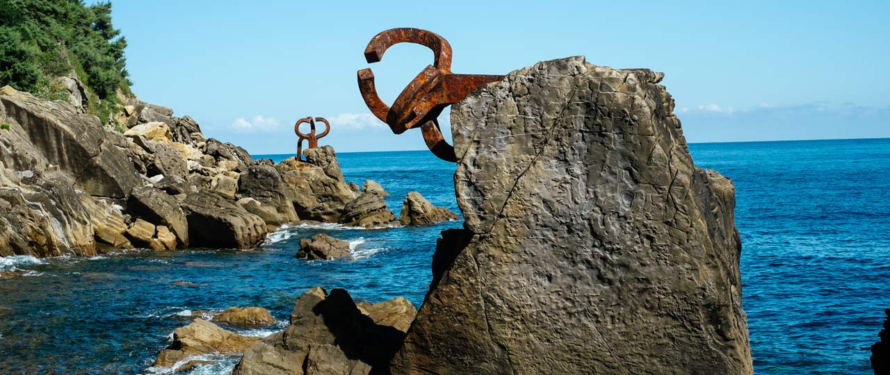 Work by sculptor Eduardo Chillida