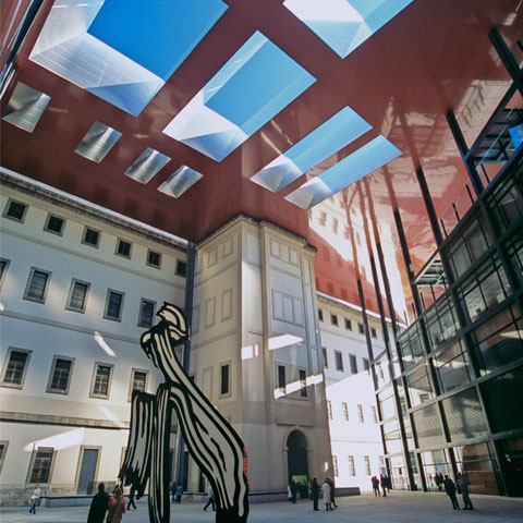 Inner courtyard of the Reina Sofía National Art Museum, Madrid
