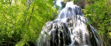 Trinidad Waterfall in the Monasterio de Piedra Nature Reserve, Aragón.