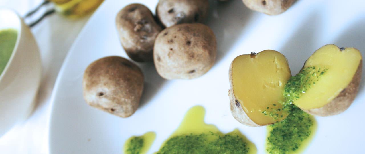 Potatoes with mojo sauce, Canary Islands