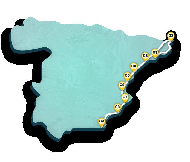 Cartina Spagna Benicassim.Viaggio On The Road Lungo La Costa Orientale Spagnola Spain Info In Italiano